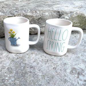 Rae Dunn HELLO SPRING and Water Can Mug Set
